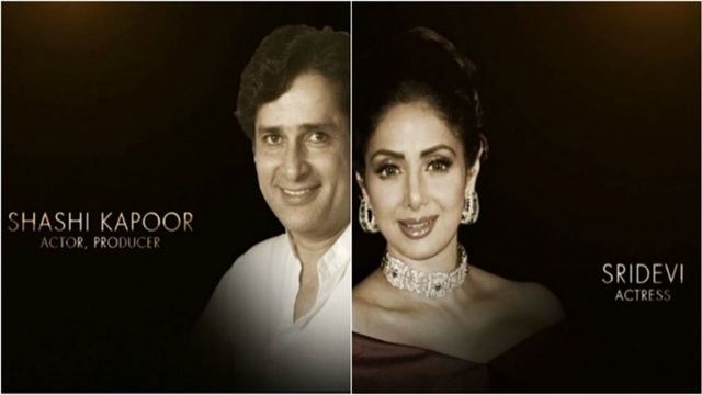 Sridevi, Shashi Kapoor remembered at Oscars